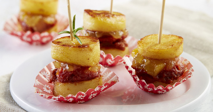 brochette de pommes de terre au barbecue chorizo et oignon