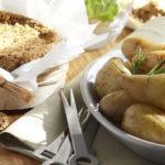 camembert au four et pommes de terre