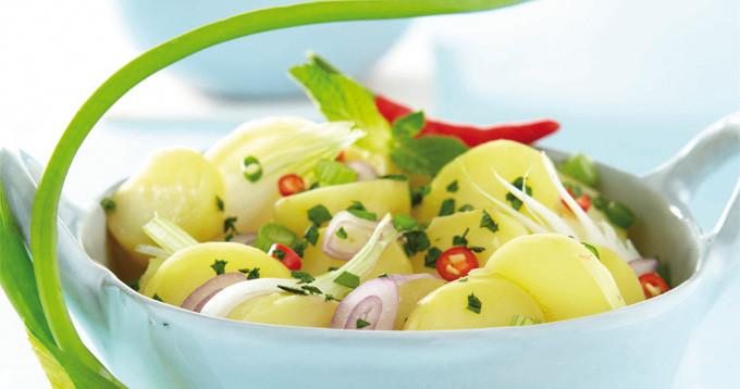 Salade végétarienne Thaï de Ratte du Touquet