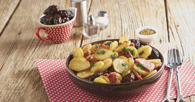 pommes de terre rissolées au lard