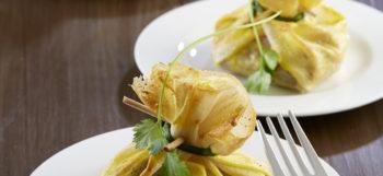 aumoniere-de-ratte-du-touquet-et-saumon-fume-a-la-coriandre
