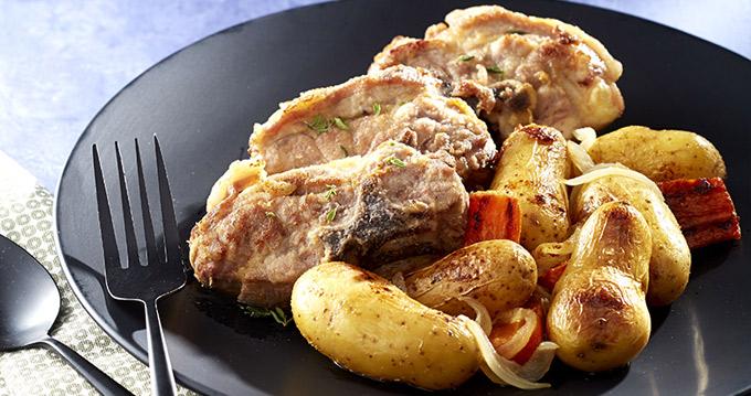 Collier d agneau mijot aux ratte du touquet carottes - Cuisiner du collier d agneau ...