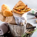 La traditionnelle recette de fish and chips mais avec des frites de Ratte du Touquet