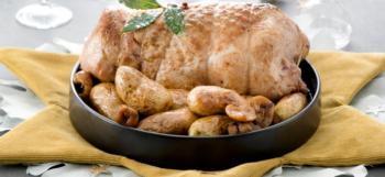 Galantine de dinde aux marrons et Ratte du Touquet aux quatre épices