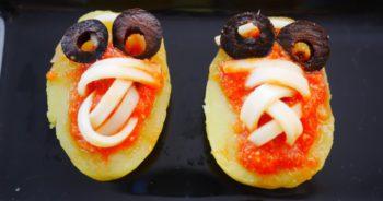 bouchées d'Halloween aux Pommes de terre Ratte du Touquet