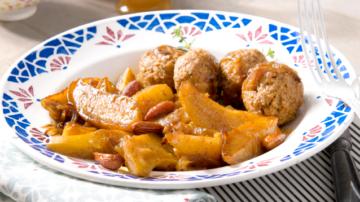 Ratte du Touquet safranées au miel & boulettes d'agneau