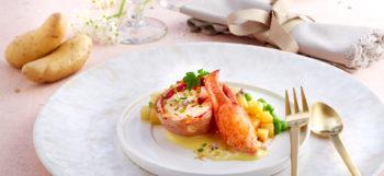 Tournedos de homard et sa bisque de Ratte du Touquet
