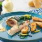 Roulés de filets de bar, Ratte du Touquet croustillantes et salicorne