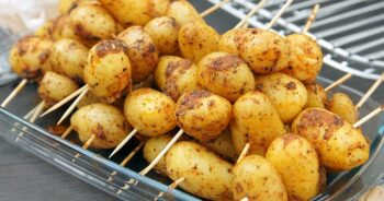 brochettes de pommes de terre Ratte du Touquet au barbecue