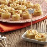 Bouchées de Ratte du Touquet aux cacahuètes croquantes