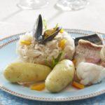 Choucroute de la mer aux Ratte du Touquet