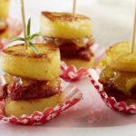 Macarons de Ratte du Touquet au chorizo & fondue d'oignons