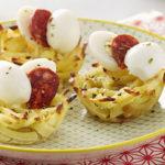 Nids de Ratte du Touquet, œuf de caille & chorizo