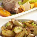 Carré d'agneau, petits légumes et Ratte du Touquet