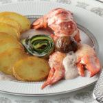 Médaillons de Ratte du Touquet et homard à l'émulsion de châtaigne