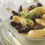 Poêlée de Ratte du Touquet aux morilles et à la crème de morbier