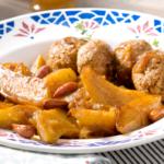 Ratte du Touquet safranées au miel et boulettes d'agneau