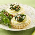 Tartelettes de Ratte du Touquet au Bleu & pousses d'épinard