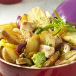 Wok de Ratte du Touquet et poulet aux petits légumes