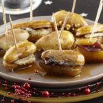 Bouchées de Ratte du Touquet au porc caramélisé