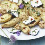 Salade de Ratte du Touquet au chèvre & miel