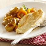 Escalopes de poulet aux poivrons & Ratte du Touquet rissolées
