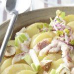 Salade tiède de Ratte du Touquet à l'anguille fumée