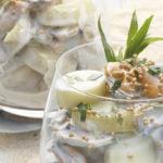 Verrines de Ratte du Touquet aux moules & à la moutarde