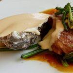 Émulsion de Ratte du Touquet, bœuf, oreilles de cochon et tartare d'huîtres