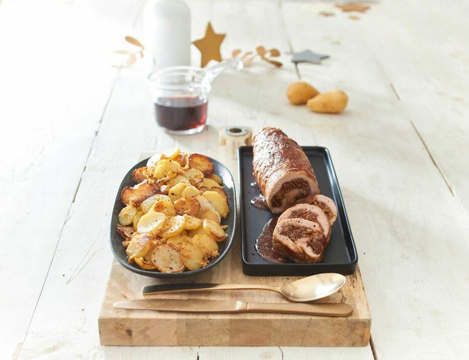Filet de veau aux figues sauce pain d'épices et Ratte du Touquet