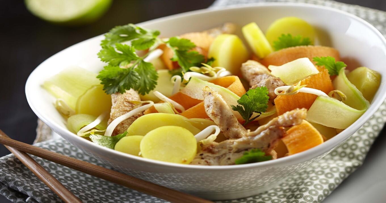Salade asiatique de Ratte du Touquet