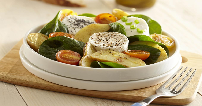 Salade de Ratte du Touquet au chèvre chaud