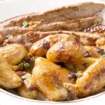 Aiguillettes de canard sauce miel pain d'épices et Ratte du Touquet