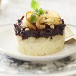 Parmentier de Ratte du Touquet au boudin noir et à la poire