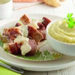 Mignons de porc au Maroilles et purée de Ratte du Touquet