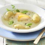Veloute de Ratte du Touquet infusé au haddock et au poireau