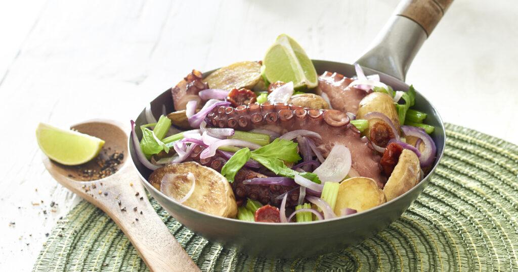 Wok de Ratte du Touquet aux tentacules de poulpe