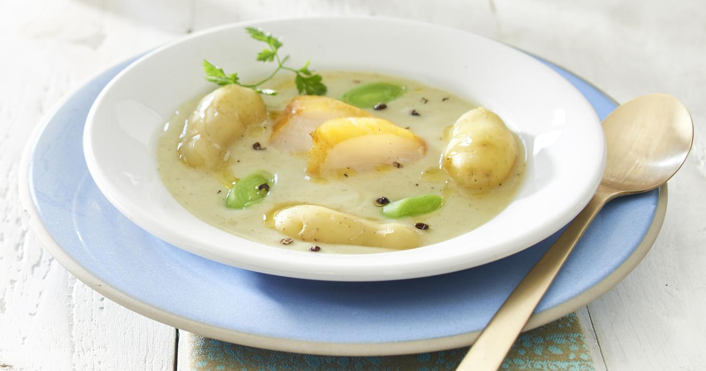 Veloute pommes de terre et haddock